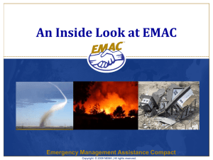 Emergency Management Assistance Compact (EMAC