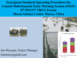 Synergized Standard Operating Procedures for Coastal Multi