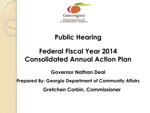 Annual Action Plan PPT - Georgia Department of Community Affairs