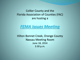 fema pp 6 17 14 final - Florida Association of Counties