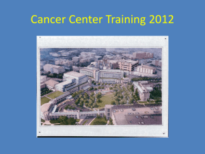 Cancer Center Training - Occupational & Environmental Safety Office