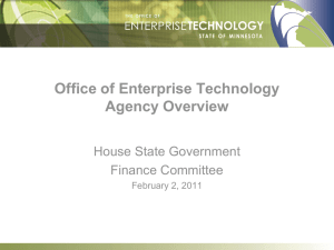 OET Agency Overview - Minnesota House of Representatives