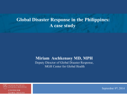 Global Disaster Response in the Philippines: A case study