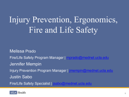 Injury Prevention, Ergonomics, Fire & Life Safety