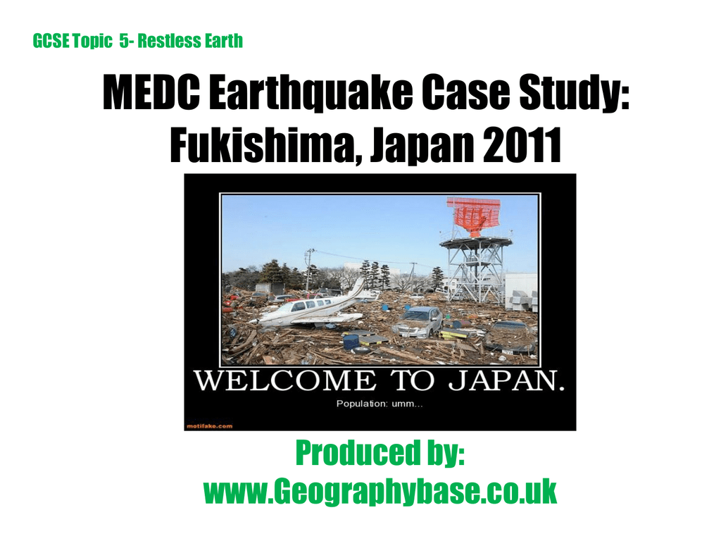Earthquake Case Study Japan 2011 ppt
