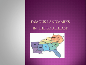 Famous landmarks in the southeast