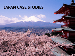 JAPAN CASE STUDIES - IBGeography