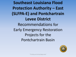 RECOMMENDED - Coastal Protection and Restoration Authority