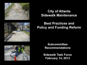 Sidewalk Task Force presentation-recommended reforms Sally Flocks