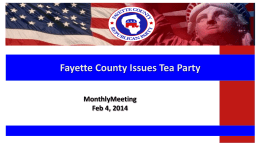PowerPoint - Fayette County Issues Tea Party