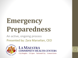 Emergency Preparedness - National Center for Health in Public