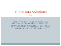 view presentation: The Minnesota Solutions Model