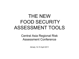 FOOD SECURITY - UNDP in Europe and Central Asia