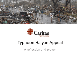 Typhoon Haiyan Appeal