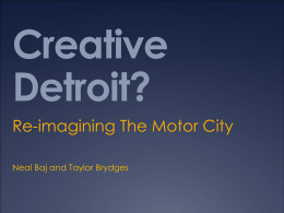 Creative Detroit? - Martin Prosperity Institute