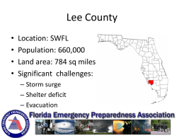 Lee County EOC Presentation
