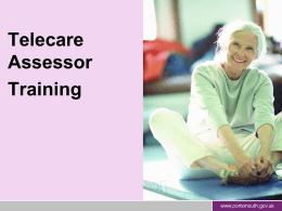 Telecare Assessor Training