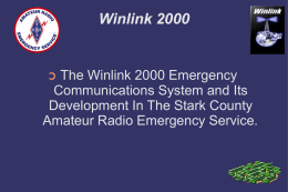 Winlink 2000 - The Stark County ARES Home Page