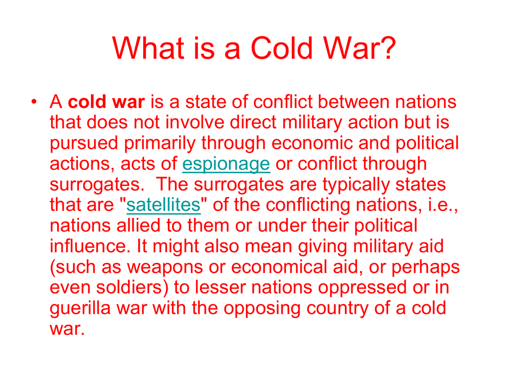 Why Did The Cold War Start