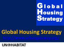 The Global Housing Strategy - UN