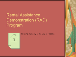 Rental Assistance Demonstration (RAD)