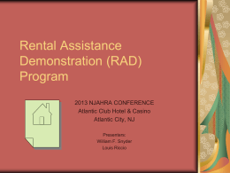 Rental Assistance Demonstration (RAD) Program
