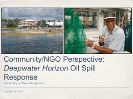 Guidelines for Oil Spills - University of New Hampshire
