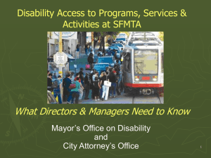 Programmatic Access Training for the SF Municipal