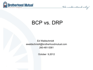 BCP vs DRP i with Ed Waldschmidt