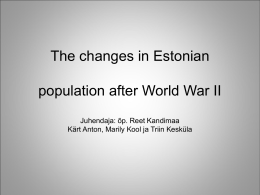 Changes in Estonian population after World War II
