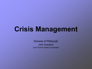 Crisis Management/ Business Continuity