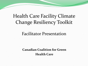 Facilitators Guide () - Canadian Coalition for Green Health Care