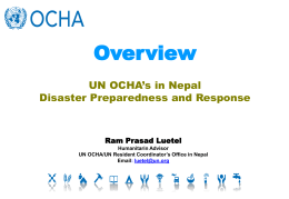 4.08 UN OCHA Roles on Disaster Preparedness and Response in