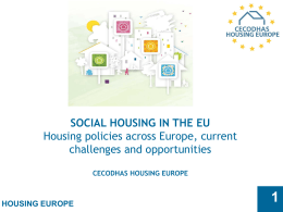 CECODHAS - Housing Europe - Social Housing Good Practices