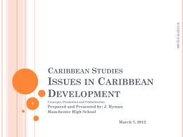 Issues in Caribbean Development