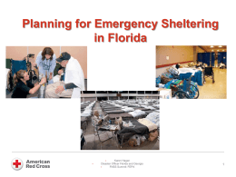 Sheltering - Florida Emergency Preparedness Association