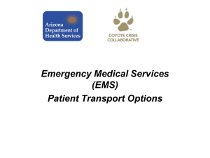 EMS Transport in Disasters – Joe Gibson