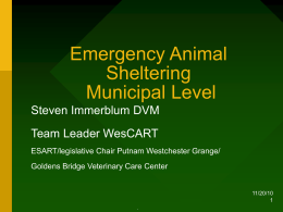Municipal Sheltering PowerPoint - Goldens Bridge Veterinary Care