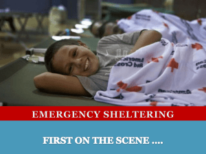 Emergency Sheltering by the American Red Cross