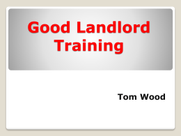 Good Landlord Training - Utah Business Licensing Association