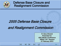 Defense Base Closure and Realignment Commission