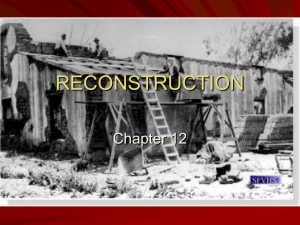 Lincoln`s Plan for Reconstruction