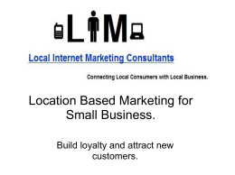 (PPT, Unknown) - Local Internet Marketing