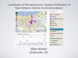 Landscape of Remembrance: Spatial Distribution of New Orleans