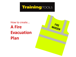 How to Create a Fire Evacuation Plan (Training Tool)