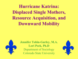Hurricane Katrina - Gender & Disaster Resilience Alliance