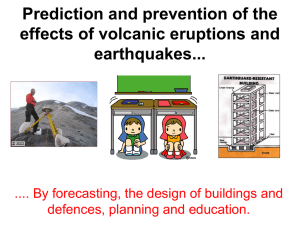 Prediction and prevention of the effects of volcanic