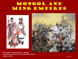 Mongol and Ming Empires - Team Martinez