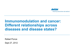Immunomodulation and Cancer