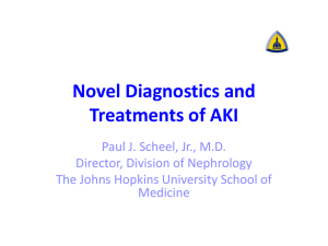 Novel Diagnostics and Treatments of AKI